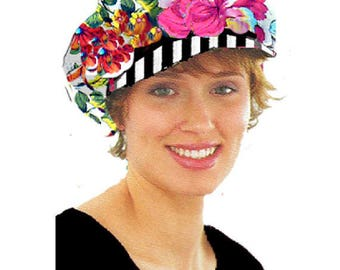 Newsboy Cap Floral Design
