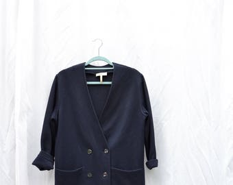 Rodier vintage dark blue french cardigan