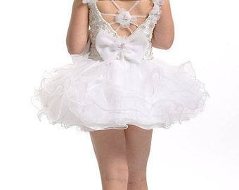 3T Perfect Angels Cupcake White Pageant Dress NEW old stock