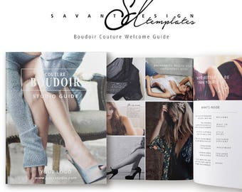 Marketing Template, InDesign Template, Boudoir Welcome Guide Magazine Template, Customizable, Photography Pricing Guide, Branding, BMI201