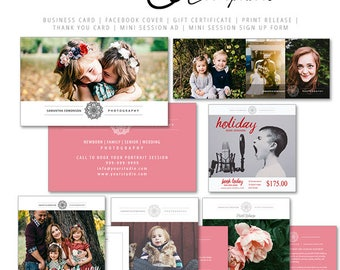 Photography Marketing Template Modern Zone, Photoshop Templates include Logo, Forms - Contracts, Price Guide, Accordion Card,  Social Media