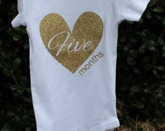 Custom Month Onesie Baby Shower Gifts