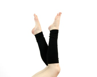 Black Leg Warmers Womens Leg Warmers, Womens Boot Socks, Yoga Leg Warmers Adult Leg Warmers Long Leg Warmers Womens Gift for Her Ballet