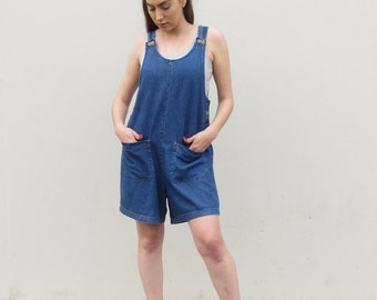 Denim overalls Vintage denim jeans romper