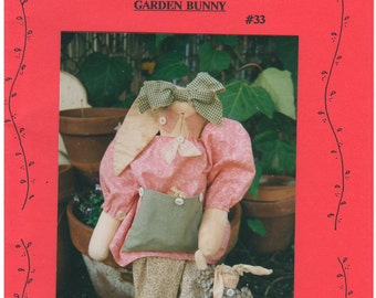 1992 - Patrice And Company Garden Bunny # 33 Vintage Sewing Pattern Bunny Rabbit Stuffed Soft Home Decor Gift Toy Country Doll Animal