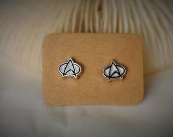 STAR TREK Logo / Insignia Stud Earrring ~ 8 mm - Unisex / Casual / Geek