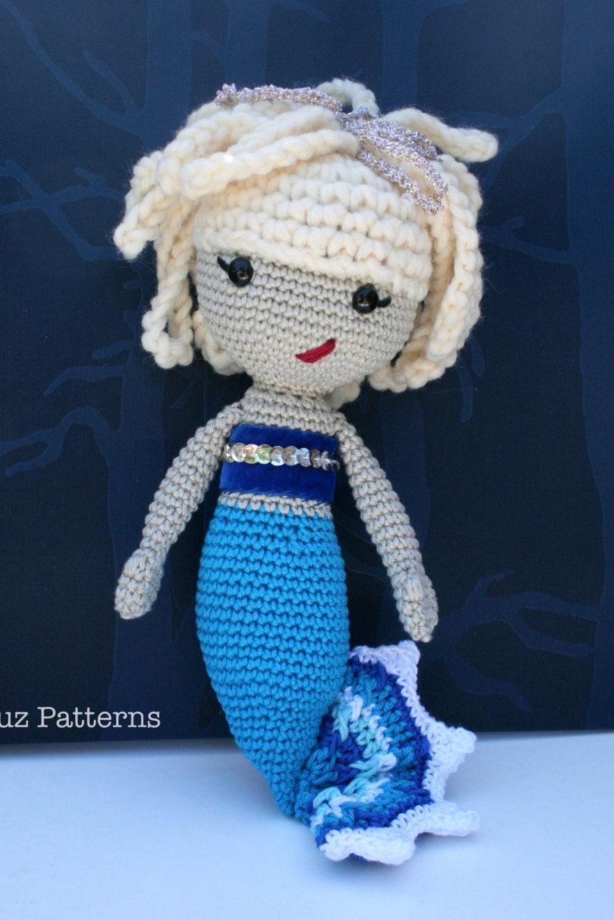 Amigurumi Mermaid Pattern : Crochet pattern amigurumi mermaid doll 141 baby patterns
