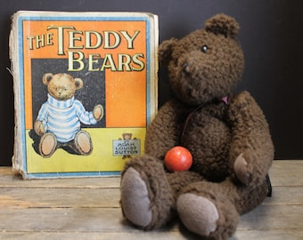 Antique Rare Book The Teddy Bears By Adah Louise Sutton // Saalfield Publishing Company
