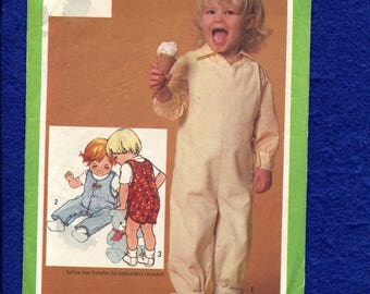 1980's Simplicity 9723 Classic Toddler's Overalls & Romper Pattern Size 2