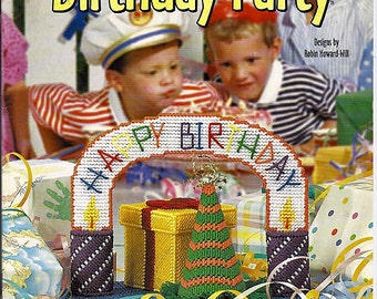 Birthday Party Plastic Canvas Pattern  Book House of White Birches 186001