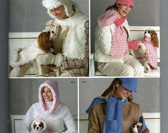 Misses' Hats  and Dog Clothes In Three Sizes / Original Simplicity Uncut Sewing Pattern 4316
