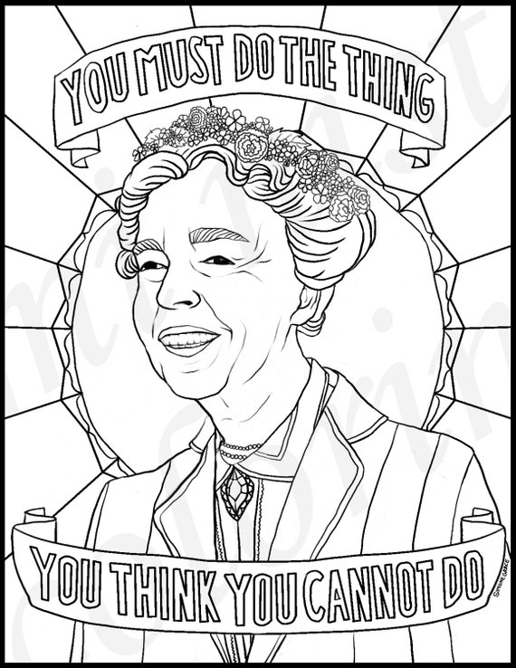 Eleanor Roosevelt Portraits Coloring Pages For Adults Eleanor Roosevelt Coloring Pages