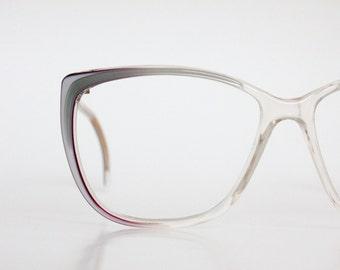 Vintage Oversized Cat Eyeglass Frames