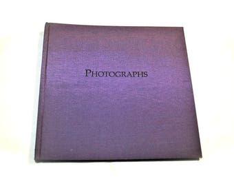 Photo Journal Purple Unused 48 Pages Vintage