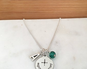 Personalized Enjoy the Journey Necklace
