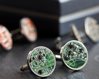 Unique  cufflinks, Circuit board Cufflinks, stainless steel, cufflinks for computer geeks, gift for him, gift for husband, Groomsmen suit