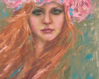 Bohemian Art Print | Floral | Wild Flower | 8x10|11x14|16x20
