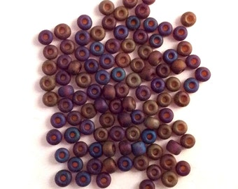 Czech Seed Beads 6/0  8gm Matt Rainbow Luster #82001