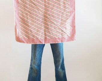 1970s// Donna Karan Era// ANNE KLEIN// Designer Silk Graphic Scarf// made in Italy