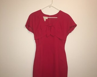 Donna Ricco Vintage Red tie top wiggle dress