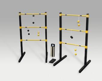 Painted Ladder Ball Game Custom Wedding Colors wooden ladder Golf Ball Bolas Premium Custom Yard Game Wedding Reception Game Wedding Gift
