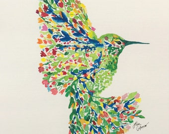 "Watercolor ""Bloom in Flight"" Limited Edition Numbered  1-10"