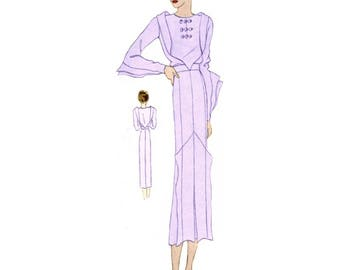 Plus Size (or any size) Vintage 1934 Dress Sewing Pattern - PDF - Pattern No 1513 Irma 1930s 30s Retro