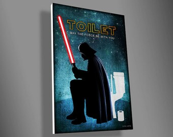 Darth Vader Toilet sign,Stormtrooper bathroom sign,R2D2 laundry sign,C3PO Bedroom sign,star wars,father's Day,door sign,door sign,geek,gift