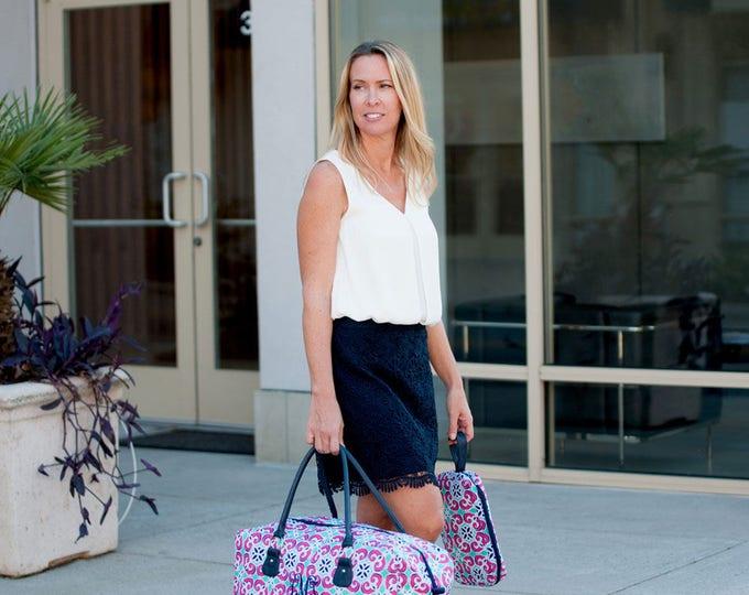 Monogrammed Weekender Bag, Monogrammed Duffle Bags, Graduation Gifts, Weekender Bag, Honeymoon Bag, Travel Necessities, Girls Luggage