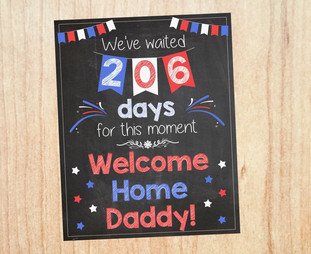 welcome home sign  deployment homecoming poster  soldier