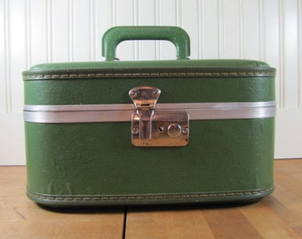 Image result for vintage  green makeup case