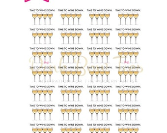 Wine Tracker for Erin Condren, Happy Planner, TN, and Recollections.
