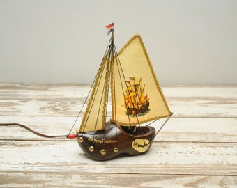 Wooden Shoe Night Light Holland Express Ship