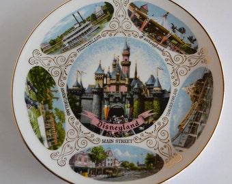 vintage Disneyland plate: Walt Disney souvenir plate, Japan