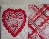 Patchwork Appliqued Heart Mug Rug