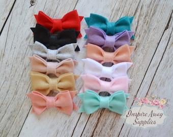 Felt hair bow, DIY bows, headband supply, bow tie, wholesale headband supplies, DIY headbands