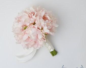 Bridal Bouquet, Peony Bouquet, Wedding Bouquet, Pink Peony Bouquet, Silk Bouquet, Silk Flowers, Wedding Flowers, Faux Bouquet, Beach Wedding