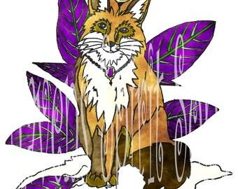 Royal Fox digital print