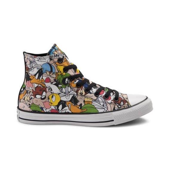 Youth Kids Converse High Top Looney Tunes Classic Cartoons Retro Custom Kicks w/ Swarovski  Crystal Chuck Taylor Rhinestone All Star Shoes