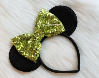 Lime Green Mouse Ears Headband. Girl Mouse Ears Headband. Women Headband. Teen Headband. Disney Headband. One Size Fits Most