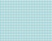 "CLEARANCE SALE 30% OFF Riley Blake Designs ""Small Gingham"" by Riley Blake Designs Cotton Basics - Aqua Gingham - 1/2 yard"