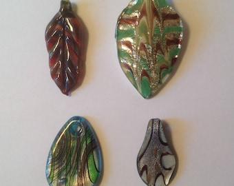 Glass Pendant Lot Colorful Murano Glass Jewelry