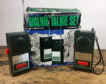 Vintage Gakkin Walkie Talkie Set Never Used Original Box Working