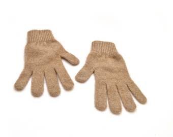 90s Brown Cashmere Gloves Soft Warm