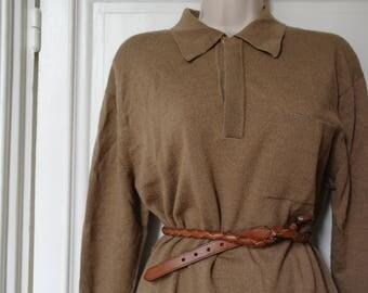 Vintage 70 beige pullover 100% WOOL