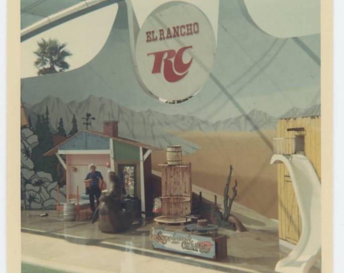 Vintage Snapshot Photo: El Rancho RC Cola Sage Brush Chapel Water World c1970s (75576)