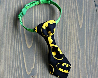 Batman Neck Tie for Cat, Necktie for Small Dog, Collar Accessory, Neckwear, Fashion Accessory for Pets, Collar NOT included