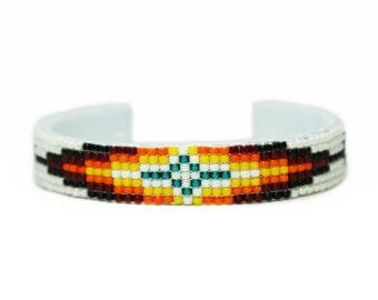 White Beaded 7 Row Bracelet