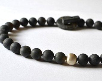 Black Amber Necklace, Gemstone Modern Amber, Amber Necklace, Black Amber Jewelry
