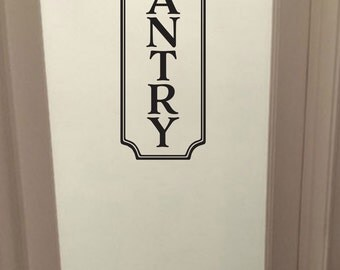 Pantry Vinyl Decal, Kitchen decal, Glass  Door Decal, vinyl lettering, Rectangle Border Frame sign, wall sticker, vinyl decal HH2180